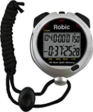 Robic 67764 Oslo Silver 60 Sixty Memory Stopwatch