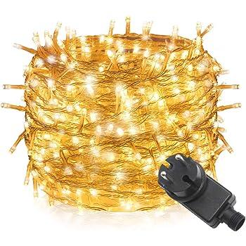 Tersely 40m 400er LED Lichterkette Weihnachten Kette Leuchte auf Transparent Kabel LED Lichter mit 8 Modi Innen und Außenbereich Lauflichter für Saal, Garten, Weihnachten, Hochzeit, Party-Warmweiß