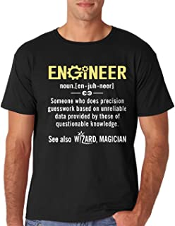 AW Fashions Engineer - Funny Engineer Meaning - Funny Definition Nerdy Science Geek Men's T-Shirt