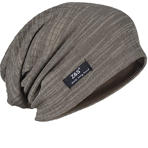 FORBUSITE B018 Distressed Stripe Slouch Beanie Skull Cap for Summer b535aab4df4