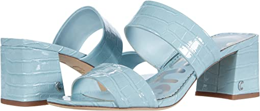 Powder Blue Exotic Croco Patent