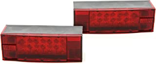 LED Low Profile Red Trailer Turn Signal Stop 2 Light L R Submersible DOT Over 80