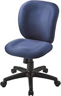サンワダイレクト オフィスチェア 低反発ウレタン 高さ46~59cm ロッキング パソコンチェア PCチェア ブルー 100-SNC031BL