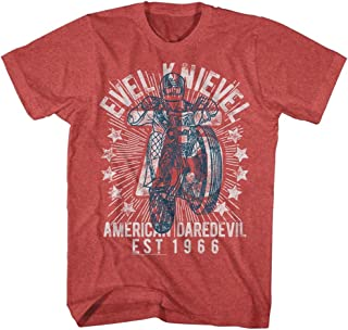 Evel Knievel American Iconic Daredevil Motorcycle Helmet Adult T-Shirt 75 Jumps