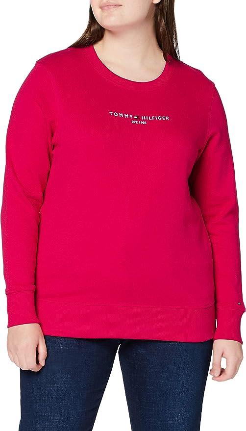 Tommy Hilfiger Th Ess Hilfiger C-NK Sweatshirt Sweater Femme