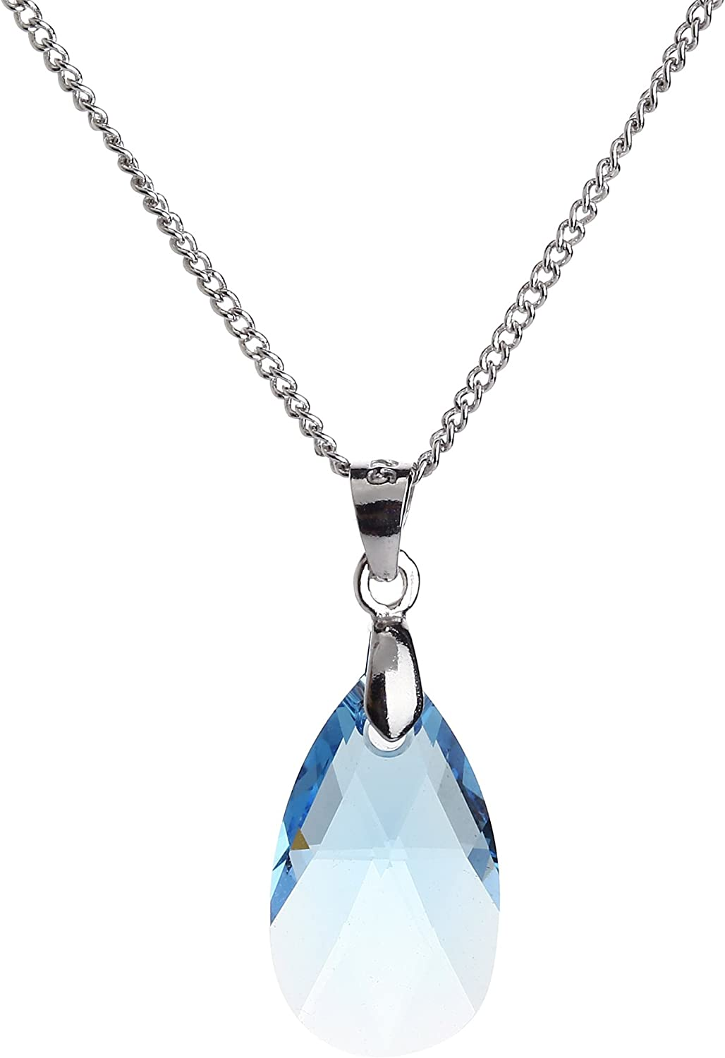 Kruckel The Shape of Water White Gold Plated Necklace Made with Swarovski Crystals - NES0050