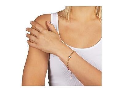 Rebecca Minkoff Beaded Yin-Yang Bracelet w/ Evil Eye Heart (Gold) Bracelet