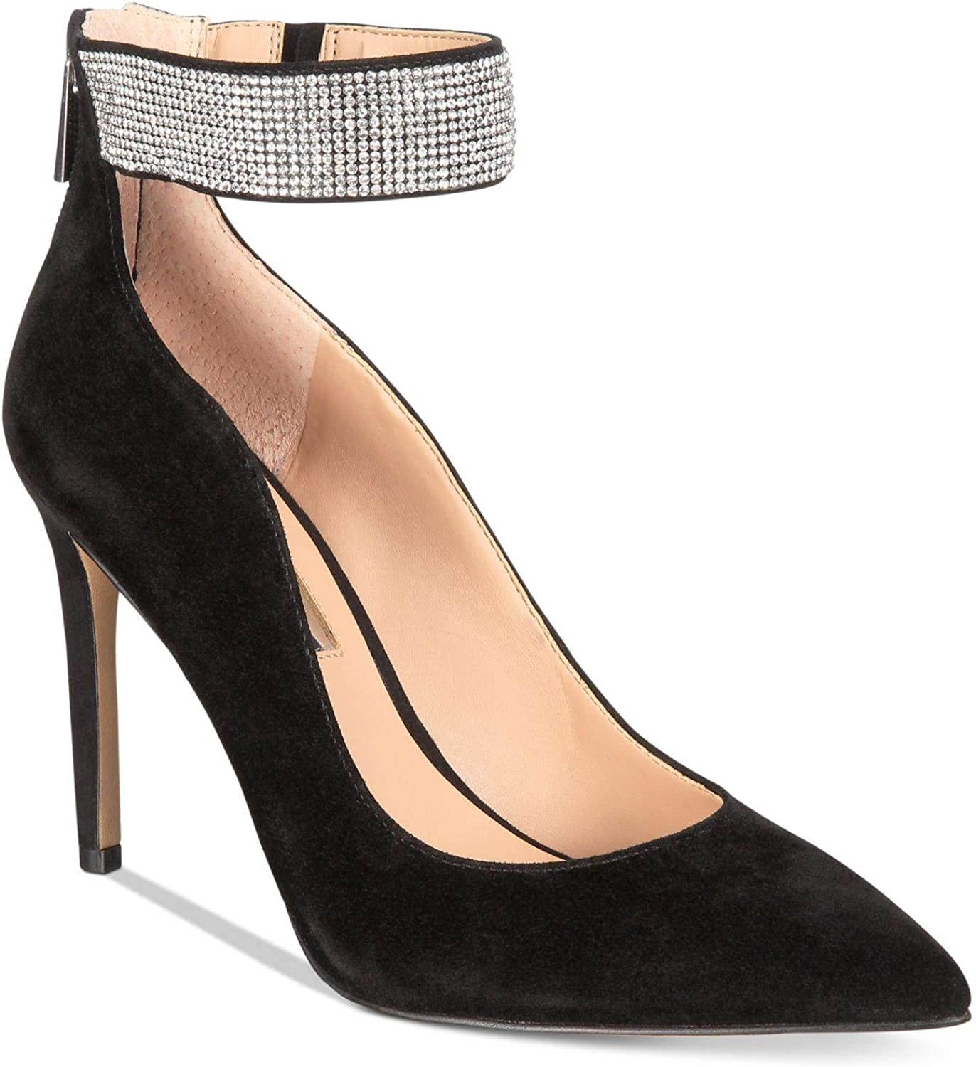 INC International Concepts Womens Kaylynn Leather Pointed Toe Ankle Strap Cla.