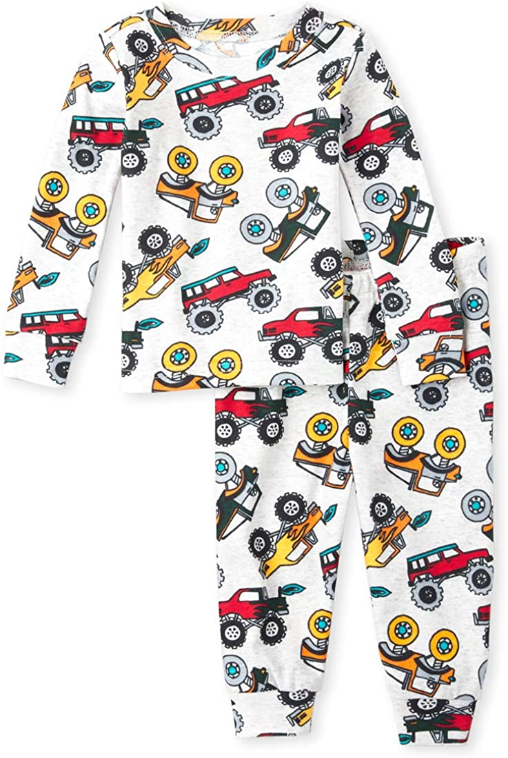 The Children's Place Baby Boys Construction Printed Pajama Set