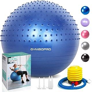 GYMBOPRO Fitness Pelota de Ejercicio - Bola Suiza con Bomba de Inflado,Bola de Yoga antirrebote y Antideslizante,Bola de Equilibrio para Gimnasio Pilates Gimnasio de Yoga