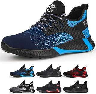 TQGOLD Chaussure de Securité Homme Femmes S3 Baskets Légères et Antidérapantes Chaussures de Travail avec Embout de Protec...