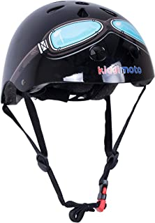 Color Negro KIDDIMOTO Eight Ball Medium Casco de Ciclismo Infantil para Bicicleta BMX 53-58 cm