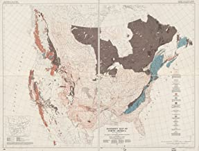 Vintage 1790 Map of North America from the Mississippi River to the Pacific, between the 35th and 60th parallers of latitude North America
