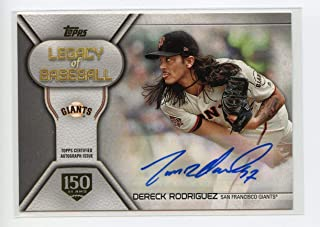 2019 Topps Legacy of Baseball Autographs 150th Anniversary #LBADR Dereck Rodriguez S2 Auto 125/150 - NM