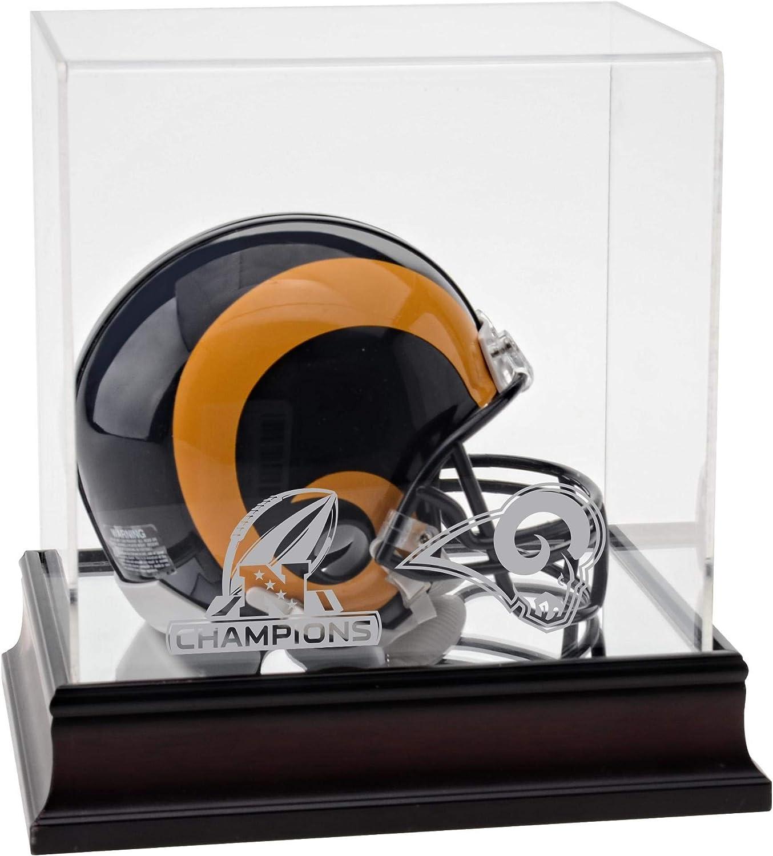 5% OFF Los Angeles Rams cheap 2018 NFC Champions Di Logo Mini Helmet Mahogany