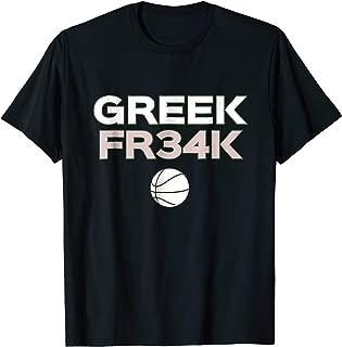 GREEK FR34K Basketball Shirt Milwaukee Freak geekT-shirt