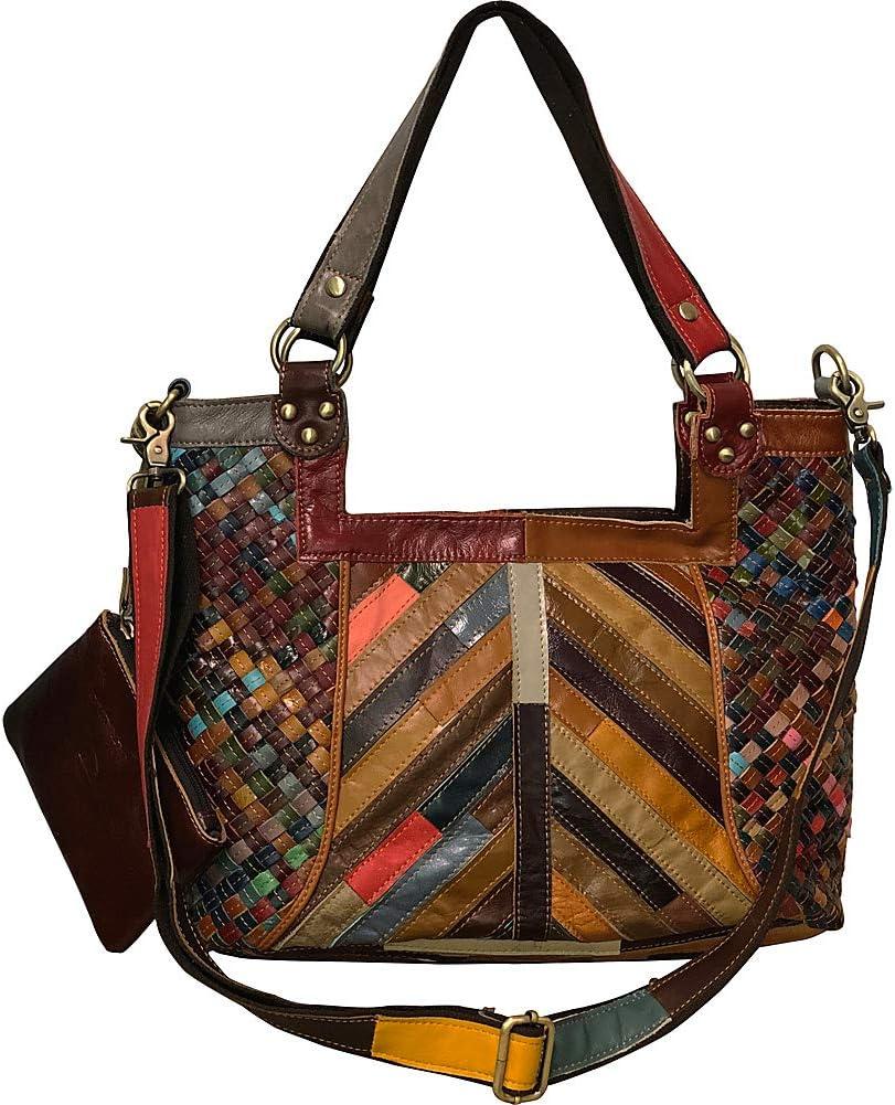Amerileather Hazelle Leather Handbag Max 67% OFF Shoulder online shop Bag 1703-9