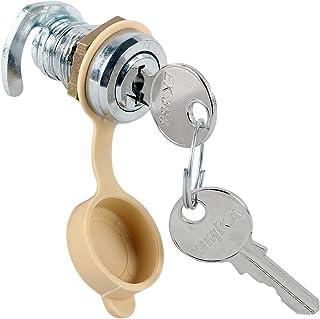 Gaskasten Schloß Chrom 2 Schlüssel Hakenriegel für 12 mm Stärke mit Schutzkappe