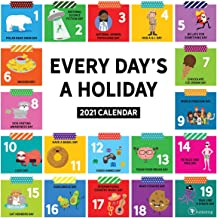 "TF Publishing 2021 Every Day's A Holiday Monthly Wall Calendar - Appointment Tracker - Contacts/Notes - Home or Office Planning - Matte 12""x12"""