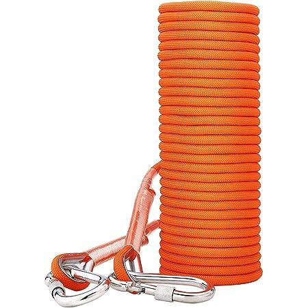 extension sp/él/éologie randonn/ée ing/énierie Kuou 10 m Corde descalade professionnelle corde d/évacuation durgence avec 2 mousquetons pour camping multifonctionnelle 10 mm de diam/ètre