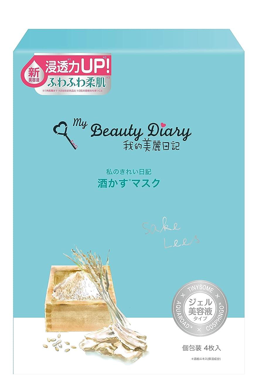 同級生商標シェーバー我的美麗日記 酒かすマスク(4枚)
