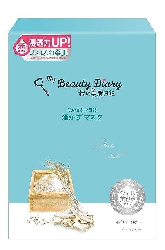 銀スケートビジュアル我的美麗日記 酒かすマスク(4枚)