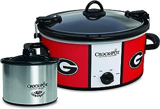 Crock-Pot Georgia Bulldogs Collegiate Cook & Carry Slow Cooker with Bonus 16-ounce Little Dipper Food Warmer