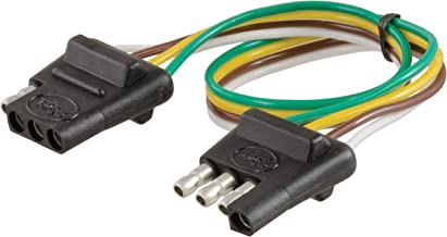 CURT 58380 Vehicle-Side and Trailer-Side 4-Way Trailer Wiring Harness with 12-Inch Wires, 4-Pin Trailer Wiring