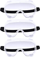 3 Pieces Traditional Technician Safety Goggle Adjustable Goggles Chemical Splash Impact..