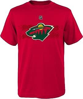 NHL Minnesota Wild Parise Z Boys Fractal Camo Player Short Sleeve Tee, X-Large/(18), Red