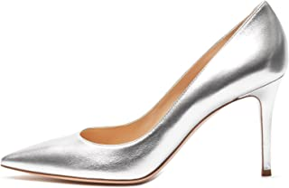 Sammitop Women's Classic 80mm High Heel Pumps Pointed Toe Office Work Dress Shoes
