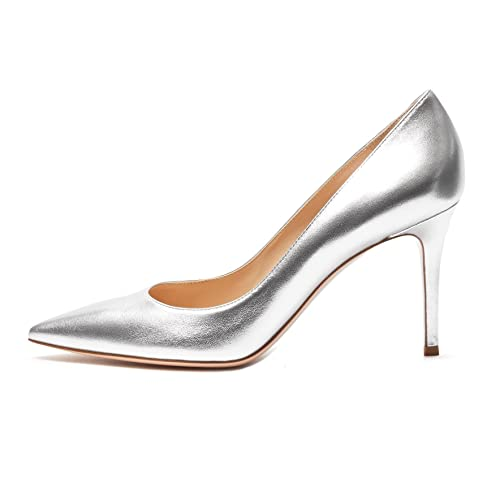b9cf38d4958ac Silver Metallic Shoes: Amazon.co.uk