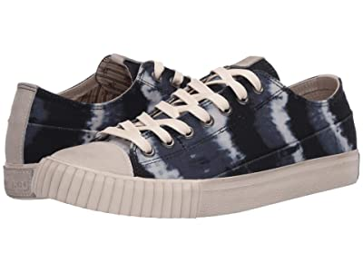 John Varvatos Vulcanized Tie-Dye Print Low Top (Vapor Grey) Men