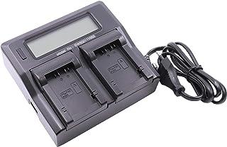 Cargador USB Dual vhbw 220V para Panasonic Batería Lumix DC-FZ82.