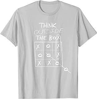 Tic Tac Toe Funny Game Shirt. Outside The Box Geek Nerds