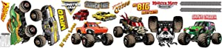 BirthdayExpress Monster Jam Childrens Room Decorations - Small Wall Decals, Party Supplies