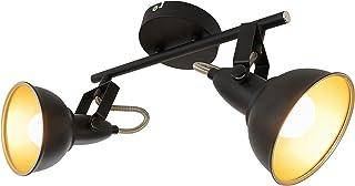 Briloner Leuchten Lampe plafonnier avec 2 spots pivotants et orientables dans un design rétro vintage – Douilles E14, 40w ...