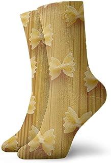 Kevin-Shop Calcetines de Vestir Calcetines Divertidos Calcetines Locos Calcetines Casuales para niñas niños, Fideos de Pas...