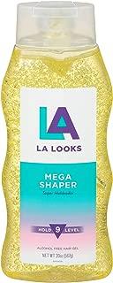 La Looks Gel #9 Mega Mega 20 Ounce (Yellow) (591ml) (6 Pack)