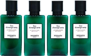 Hermès Eau d'Orange Verte Luxury Body Lotion (Lait Pour Le Corps) In Bubble Bag - Set Of 4 X 1.35 Ounce/40 ML Bottles, Total 5.4 Ounce/160 ML from Hermes Paris