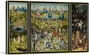 ARTCANVAS The Garden of Earthly Delights 1515 with Printed Yellow Black Border Canvas Art Print by Hieronymus Bosch - 26