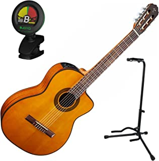 Takamine GC1CE-NAT Classical Guitar with Electronics w/ Stand and Tuner