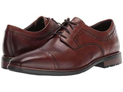 Rockport DresSports Business 2 Cap Toe (Cognac Antique) Men