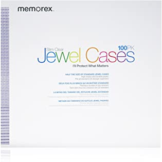 Memorex Slim Clear CD/DVD 5mm 100-Pack Jewel Cases