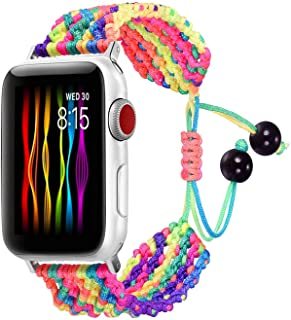 Bandmax Rainbow Band Compatible for Apple Watch 38MM 40MM, Colorful Rope iWatch Series 4/3/2/1 Nylon Wristband Accessories...