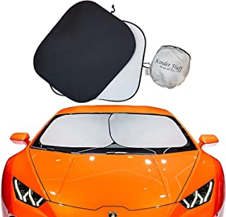 kinder Fluff Car Windshield Sun Shade with Storage Pouch | The only Certified Foldable Sunshade Proven to Block 99.87% UV ...