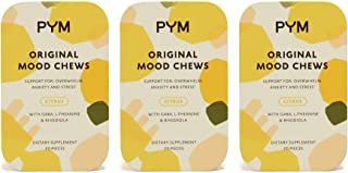 PYM Health Mood Chews, All Natural, Non-GMO, Gluten Free Chewable Supplement Provides Calm & Relief for Anxiety, Stress an...