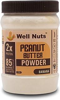 Well Nuts Peanut Butter Powder Banana 200 G -15 G Protein -Gluten Free