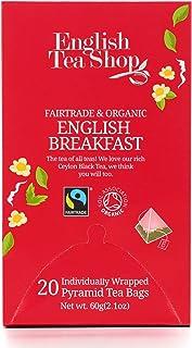 English Tea Shop Organic English Breakfast Fair Trade, Pyramid Sachets, 60g