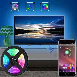 comprar comparacion Tira de luces LED para TV LED, tira de luces LED RGB de 11.5 pies (3.5M) controlada por APP para TV de 40 a 60 pulgadas, s...